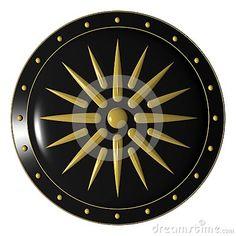 Alexander the Great Shield | 3d illustration of Alexander greek shield.