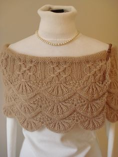 Lace and cables.  Sweater inspiration?