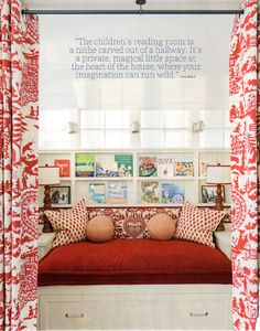 Kids' Reading Nook - Love this idea