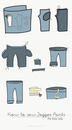 how to sew an easy pair of jogger pants