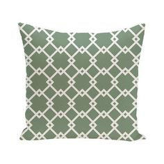 e by design Link Lock Geometric Print Outdoor Pillow