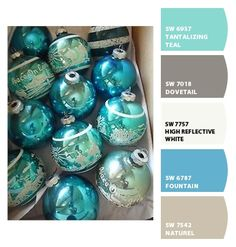 ‿✿⁀ Vintage turquoise Christmas ornaments | Star Bethiehem Peace Carriage ‿✿⁀ ColorSnap by CNH