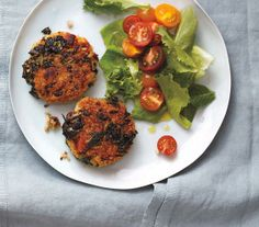 Crispy Quinoa and Bean Cakes With Salad recipe