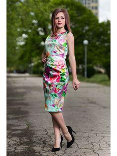 Dámske elegantné šaty AVG - viac-farebná
