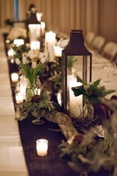 Wedding Lantern Centerpieces. http://simpleweddingstuff.blogspot.com/2013/12/wedding-lantern-centerpieces.html