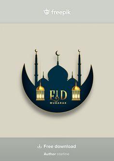 Eid Mubarak Photo, Ramadan Mubarak, Flower Art, Islamic, Wish, Vector Free, Graphics, Frame, Design