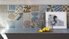 Mix and match porcelain tile collection by Patricia Urquiola