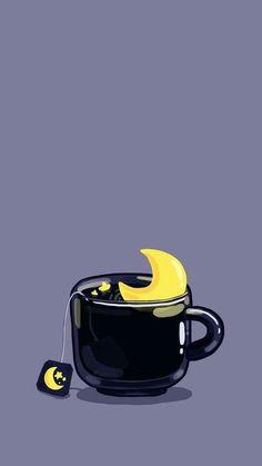 PC-Hintergrund - [ Wallpaper of Cup Illustrations Series ] (Telefon und PC-Bildschirm) (Cup of Night, R - Backgrounds♡♡ - Rainbow Cartoon Wallpaper, Wallpaper Tumblr Pc, Wallpaper Pastel, Witch Wallpaper, Kawaii Wallpaper, Wallpaper Backgrounds, Mobile Wallpaper, Rainbow Wallpaper, Tea Wallpaper