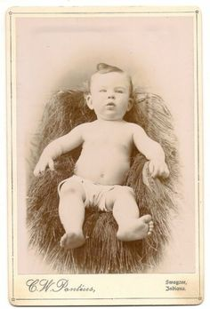 Cabinet Card Chubby Plump Happy Baby in Diaper Swazee Indiana | eBay