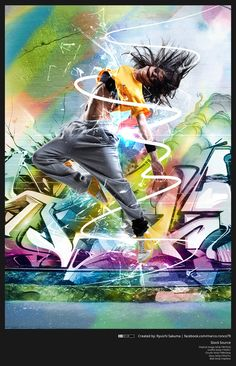 I've tried Photoshop for photo manipulation of this original image: What do you think about it? Other stock used in this images: Graffiti. Street Dance, Street Art, Hip Hop Dance Moves, Mode Hip Hop, Dance Wallpaper, Best Hip Hop, Funny Iphone Wallpaper, Acrylic Painting Techniques, Dance Pictures