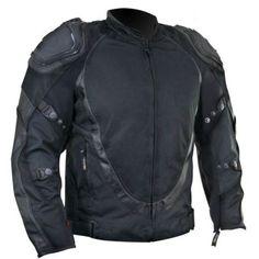 JACKET PROTECTION MOTORCYCLE MOTORBIKE BLACK water proof