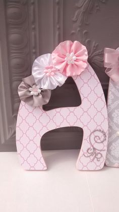 Embellished Decorative Wall Letters - YOU choose font and size