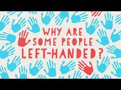 """[VIDEO] The video is from TED-Ed, explaining some of the societal differences between left- and right-handed people, such as the association of """"left"""" with """"evil"""" and """"right"""" with """"correct"""". I think contents produced by TED-Ed are reliable. Left Handed People, Left And Right Handed, People Leave, Some People, Ted Videos, Ap Psych, Science Videos, Ted Talks, Good To Know"""