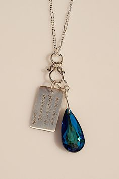 Pin it if you love it!! Be the Change Swarovski Crystal Necklace by Joann Hayssen Designs.  Simple. Classic. Elegant.  $46.00 https://www.etsy.com/listing/185564290/be-the-change-swarovski-crystal-necklace?ref=shop_home_active_1