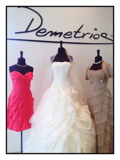 Demetrios styles Gr238 and M950. Watters bridesmaid style 499. #DemetriosBride #texture #layers