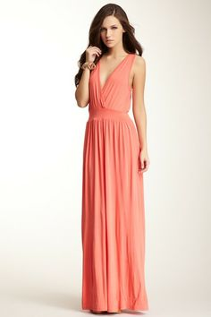 Go Couture Surplice V-Neck Maxi Dress by Go Couture. on @HauteLook