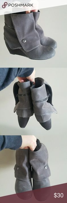 Blowfish suede fashion booties Nwot. Blowfish Shoes Wedges