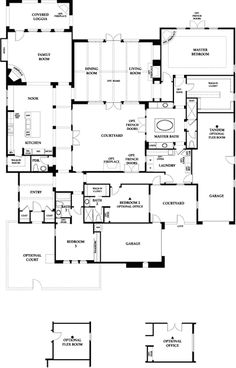 Santaluz, CA Community Info - Real Estate U Shaped House Plans, U Shaped Houses, Dream House Plans, Small House Plans, House Floor Plans, Sustainable Building Design, Courtyard House Plans, Barbie Dream House, Spanish House