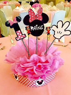Minnie Mouse Theme Party, Birthday Party Themes, Disney Characters, Mickey Party