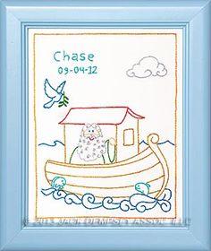 noahs ark embroidery sampler for nursery jack dempsey needle art embroidery embroiderybyhand