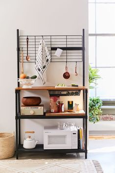 Check out Kitchen Storage Station from Urban Outfitters Cuisines Diy, Cuisines Design, Diy Kitchen Storage, Kitchen Storage Furniture, Kitchen Shelf Unit, Food Storage, Apartment Kitchen Storage Ideas, Furniture Cleaning, Extra Storage