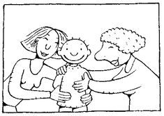 kleurplaat de dikke buik jules thema baby baby