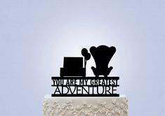 Matrimonio tema UP cake topper poltrone carl ellie. Wedding theme movie UP Disney. #wedding