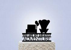 Matrimonio tema UP cake topper poltrone carl ellie