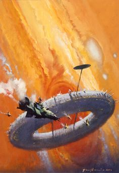 "John Harris **this piece is for the cover of Ben Bova's ""Jupiter.""  i read it.  not one of my fav author nor novel, but Bova did a good job in writing from the characters' view."