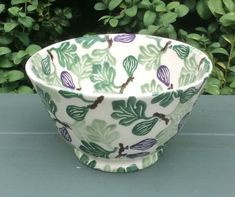 "Emma Bridgewater figs bowl, 3"" x 5"" (sold on eBay for US $96.30, 2 December 2018)"