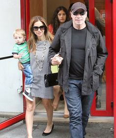 John Travolta/Kelly Preston with son Benjamin and daughter Ella Bleu John Travolta Kelly Preston, Celebrity Kids, Celebs, Celebrities, Famous People, Sons, Parents, Daughter, Children