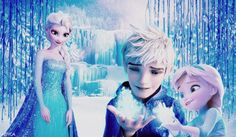 frozen, jack frost, and jelsa image Jack Frost Und Elsa, Jake Frost, Jack And Elsa, Jelsa, Disney Dream, Disney Magic, Disney Art, Disney Ships, Disney Stuff