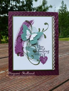 Megumi's Stampin Retreat, Stampin' Up! Work of Art Stamp Set, Zig Zag Embossing Folder, Beautiful Embosslit, Stampin' Up! Everything Eleanor Stamp Set