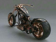 #BlackandGold #RoseGold Custom Chopper