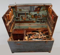 Fact: This Early Century Swedish Tool Chest is Super Cool Man Made DIY Crafts for Men Keywords: antiques, hand-tools, diy, woodworking Antique Woodworking Tools, Carpentry Tools, Antique Tools, Old Tools, Cool Woodworking Projects, Vintage Tools, Popular Woodworking, Woodworking Shop, Woodworking Plans