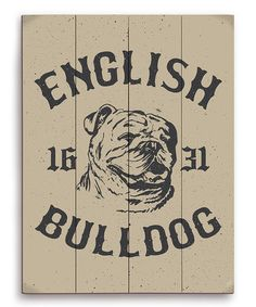 Take a look at this 'English Bulldog 1631' Wall Art by PetPictures on #zulily today!