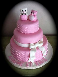 wedding cake owls sugar paste
