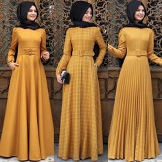 👍🏼 Size Please send dm or WhatsApp message to place your order. Hijab Evening Dress, Hijab Dress Party, Hijab Style Dress, Muslim Women Fashion, Islamic Fashion, Abaya Fashion, Fashion Dresses, Dress Pesta, Hijab Fashion Inspiration