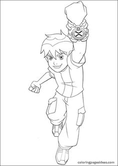 Pictures Ben 10 Tennyson Coloring For Kids