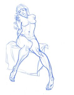 I love the inclusion of non - typical muscular shapes on a female figure drawing it makes for a more realistic female figure