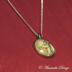 Deer Necklace Woodland Animals Deer Jewelry by AmandaDrageArt