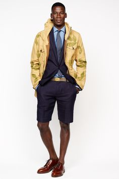 Need to figure out the office policy on business shorts. J.Crew men's spring/summer '14 collection.