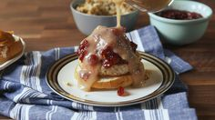 Thanksgiving Burgers: You will be thankful for these turkey burgers filled with cranberries, stuffing and gravy.