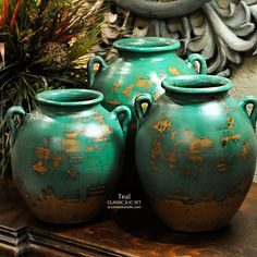 Classic Tuscan Vases .. Feel the Teal. NEW from Accents of Salado.