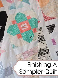 finishing a sampler quilt | Blossom Heart Quilts