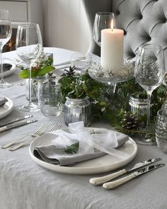 Silver Grey Pure Linen Napkins and Tablecloths add a sophistication to Christmas tables surrounded with fresh green foliage Grey Tablecloths, Linen Tablecloth, Linen Napkins, Table Linens, Christmas Table Linen, Christmas Tables, Fresh Green, Natural Linen
