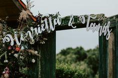 Wedding photo corner  vintage door