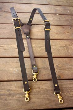 Handmade Mens Leather Suspenders