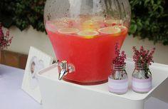 El bautizo de Micaela I: La decoración, banderines, bautizo, decoración, baptism, decoration, pink, rosa, pink lemonade,