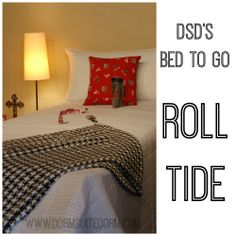 Roll Tide   $175 - White twin XL quilt, white king size quilt sham, ULTRA SOFT 100% bamboo throw blanket in Black/White Houndstooth, University of Alabama pillow, UA thermal cup, UA lanyard, UA sunglass holder ($325 VALUE!!!)